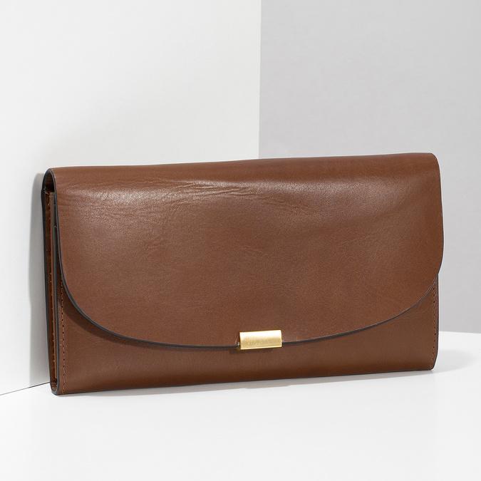 Dámská kožená peněženka hnědá bata, hnědá, 944-3228 - 17