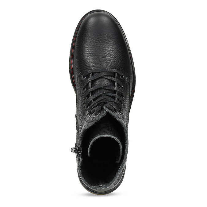 Černá dámská kožená obuv v Chelsea stylu bata, černá, 596-6732 - 17