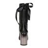 Kožené černé kozačky s metalickým podpatkem bata, černá, 796-6655 - 15