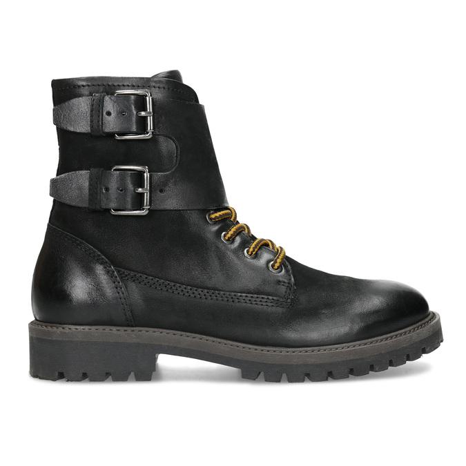 Pánská kožená zimní obuv černá bata, černá, 896-6735 - 19