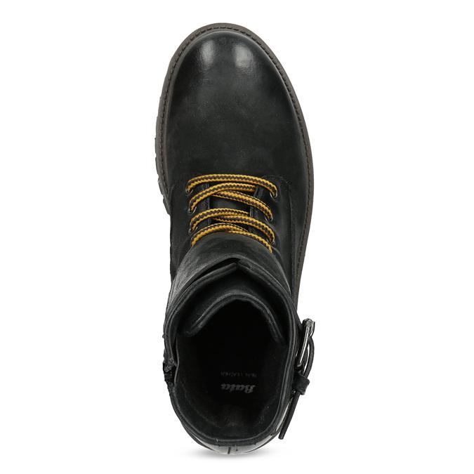 Pánská kožená zimní obuv černá bata, černá, 896-6735 - 17