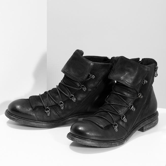Kožená zimní pánská obuv bata, černá, 896-6744 - 16
