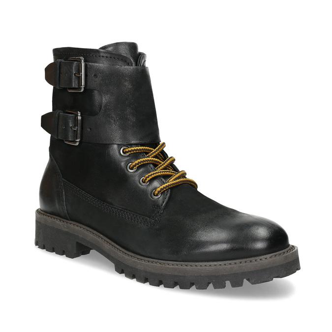 Pánská kožená zimní obuv černá bata, černá, 896-6735 - 13