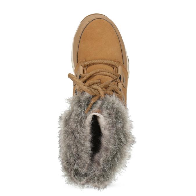 Kožená dětská zimní obuv s kožíškem sorel, hnědá, 393-3041 - 17