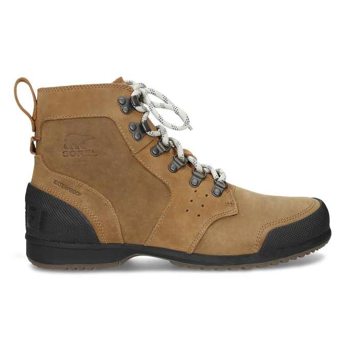 Pánská kožená kotníčková zimní obuv sorel, hnědá, 826-3025 - 19