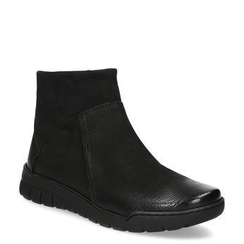 Kožená dámská kotníčková obuv bata, černá, 596-6706 - 13