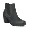 Kožená kotníčková obuv na stabilním podpatku bata, černá, 796-6652 - 13