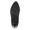 Kožená černá kotníčková obuv na podpatku bata, černá, 794-6656 - 18