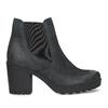 Kožená kotníčková obuv na stabilním podpatku bata, černá, 796-6652 - 19