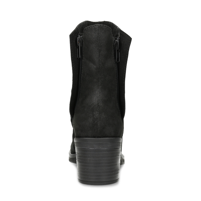 Nízké kožené kozačky černé bata, černá, 696-6659 - 15