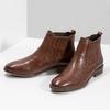 Kožená dámská obuv v Chelsea stylu bata, hnědá, 594-4682 - 16