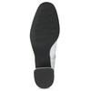 Bílá kožená kotníčková obuv s přezkou bata, bílá, 694-1673 - 18