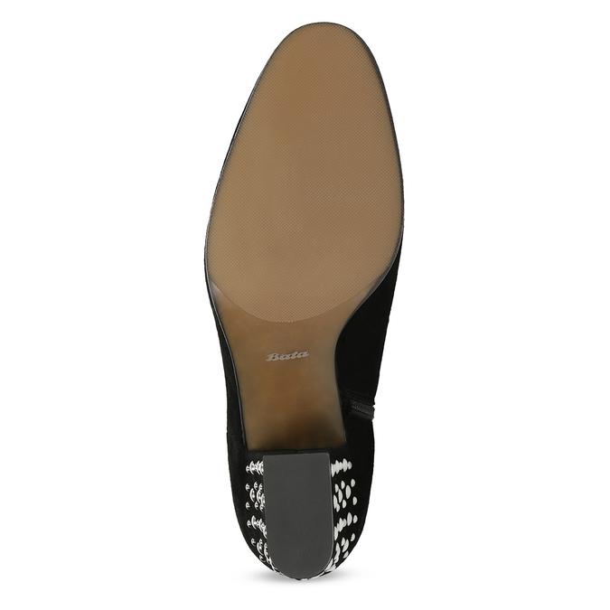 Dámská kožená kotníčková obuv se cvoky bata, černá, 723-6661 - 18