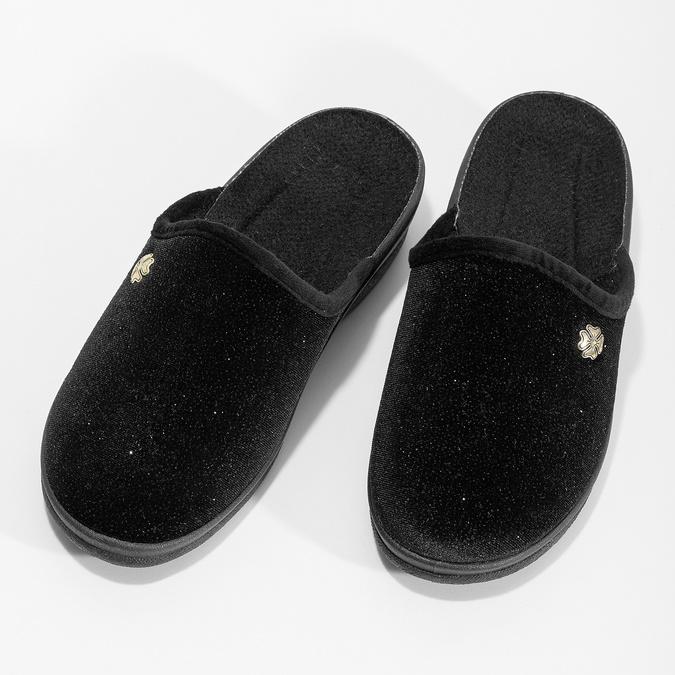 Dámské domácí nazouváky černé bata, černá, 579-6631 - 16