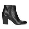 Kotníčkové kožené kozačky na stabilním podpatku bata, černá, 796-6654 - 19