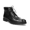 Pánská kotníčková obuv černá lesklá bata, černá, 896-6720 - 13