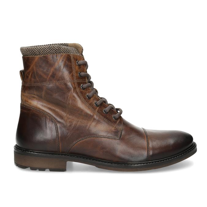 Kožená zimní kotníčková obuv pánská bata, hnědá, 896-4716 - 19