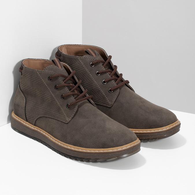 Kotníčková pánská obuv s prošitím bata-red-label, hnědá, 821-4605 - 26
