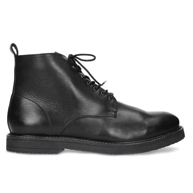 Černá kožená kotníčková pánská obuv bata, černá, 894-6721 - 19