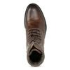 Kožená zimní kotníčková obuv pánská bata, hnědá, 896-4716 - 17