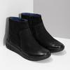 Kožená dámská kotníčková obuv bata, černá, 596-6706 - 26