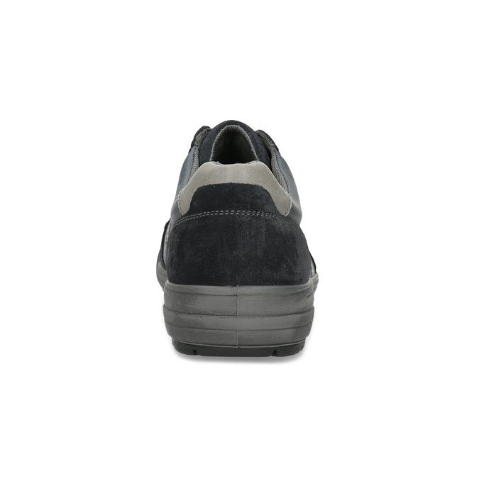 Kožené pánské tenisky šedé bata, modrá, 846-9714 - 15