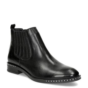 Dámská kožená Chelsea obuv s kamínky bata, černá, 594-6682 - 13