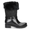 Dámské sněhule s kožíškem černé bata, černá, 592-6602 - 19