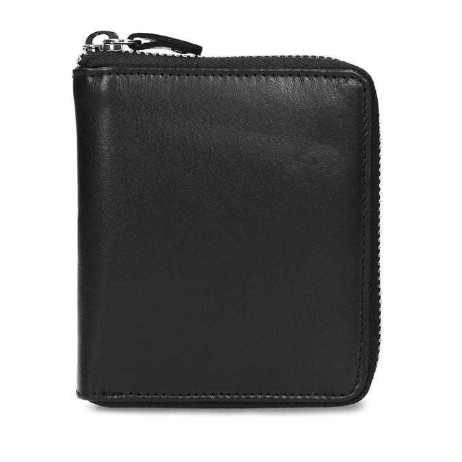 Černá kožená peněženka na zip bata, černá, 944-6603 - 26