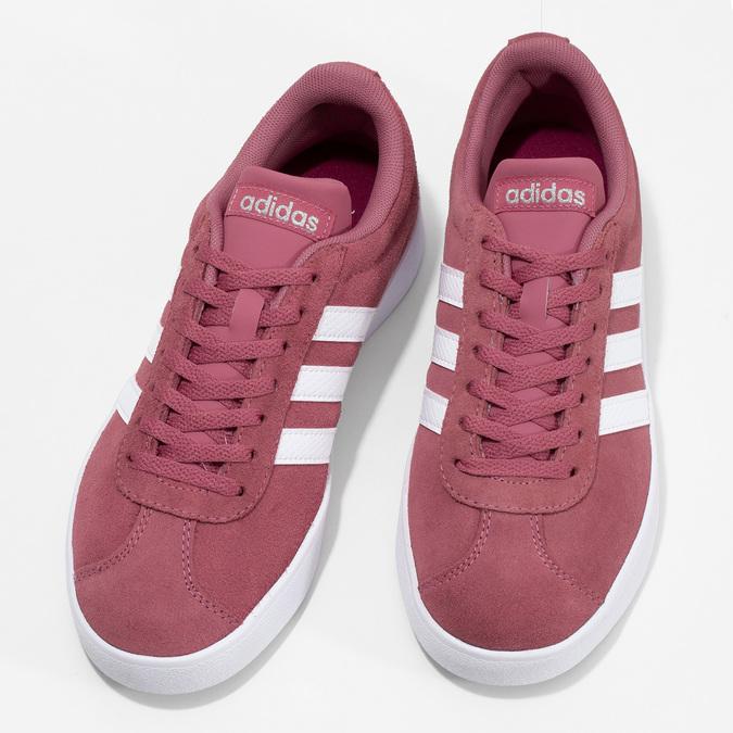 Dámské fialové kožené tenisky adidas, růžová, 503-5379 - 16