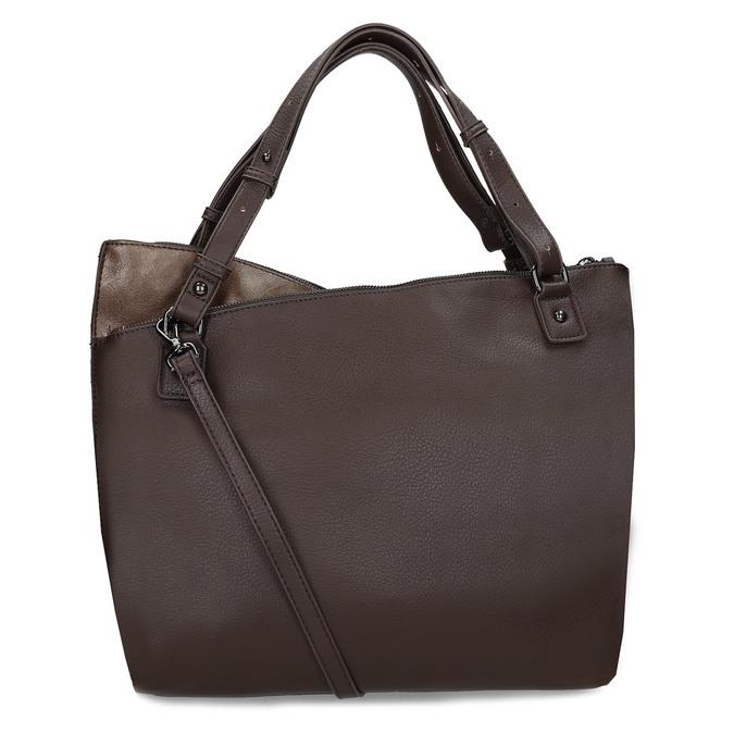 Hnědá kabelka s metalickými odlesky bata, hnědá, 961-8457 - 16