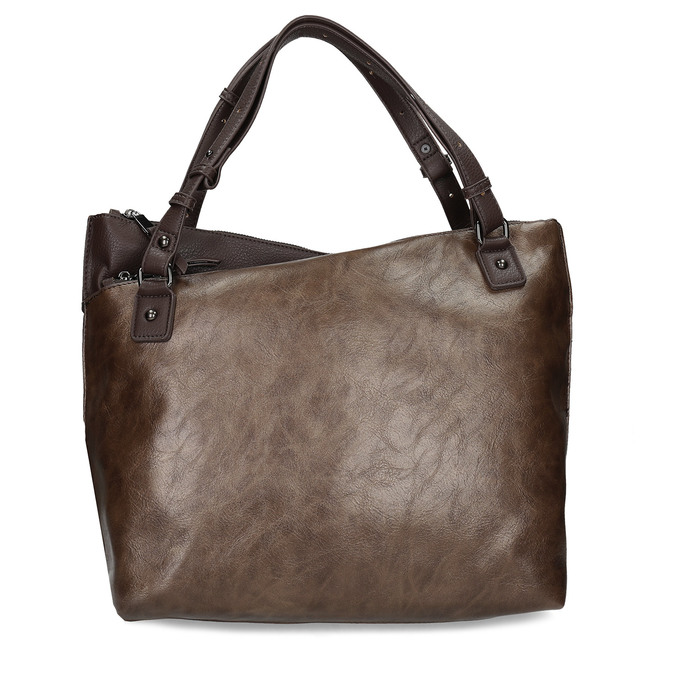 Hnědá kabelka s metalickými odlesky bata, hnědá, 961-8457 - 26