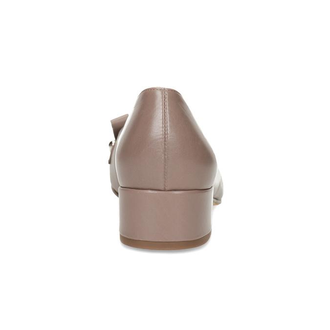 Béžové kožené lodičky s třásněmi hogl, béžová, 626-8080 - 15