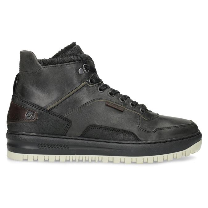 Černá pánská kožená kotníková obuv bata, černá, 896-6712 - 19