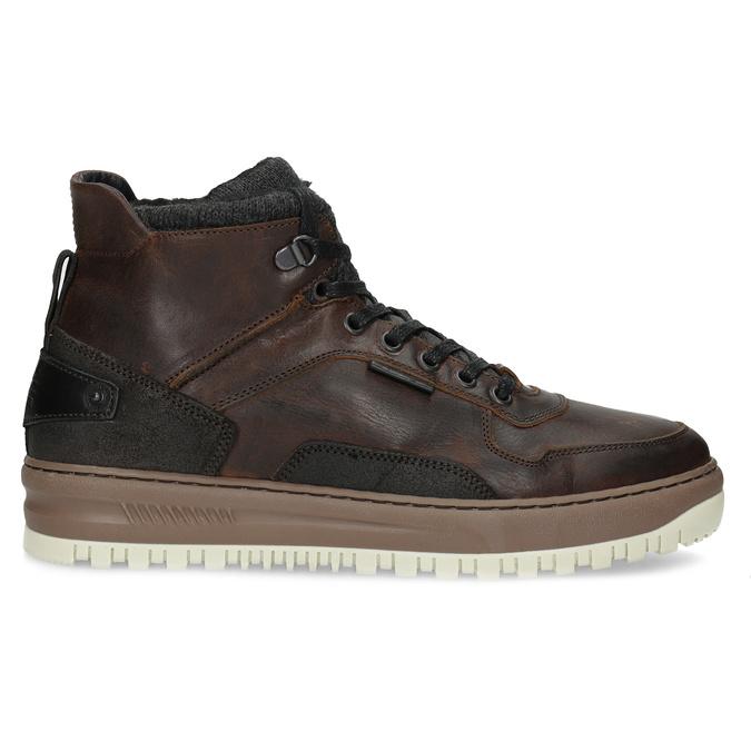 Kotníková kožená pánská zimní obuv bata, hnědá, 896-3712 - 19