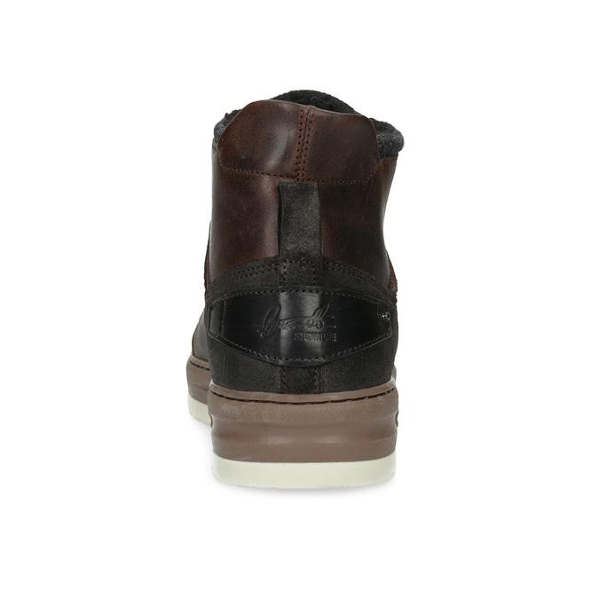 Kotníková kožená pánská zimní obuv bata, hnědá, 896-3712 - 15