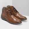 Hnědá kotníčková obuv pánská s pružením bata-red-label, hnědá, 821-3610 - 26