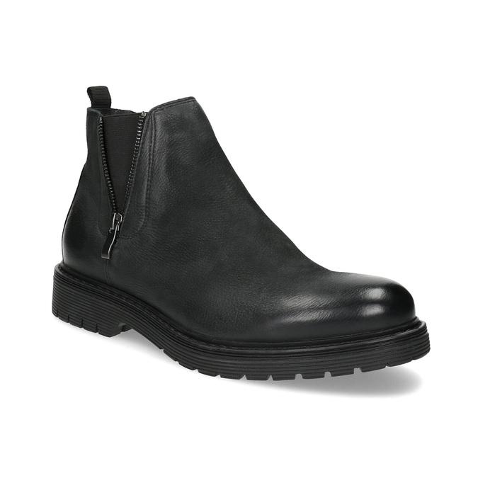 Kožená pánská zimní obuv v Chelsea stylu bata, černá, 896-6714 - 13