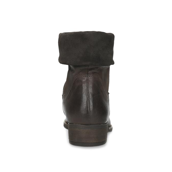 Zateplené dámské polokozačky bata, hnědá, 596-4699 - 15