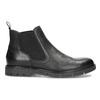 Pánské kožené Chelsea Boots černé flexible, černá, 894-6714 - 19