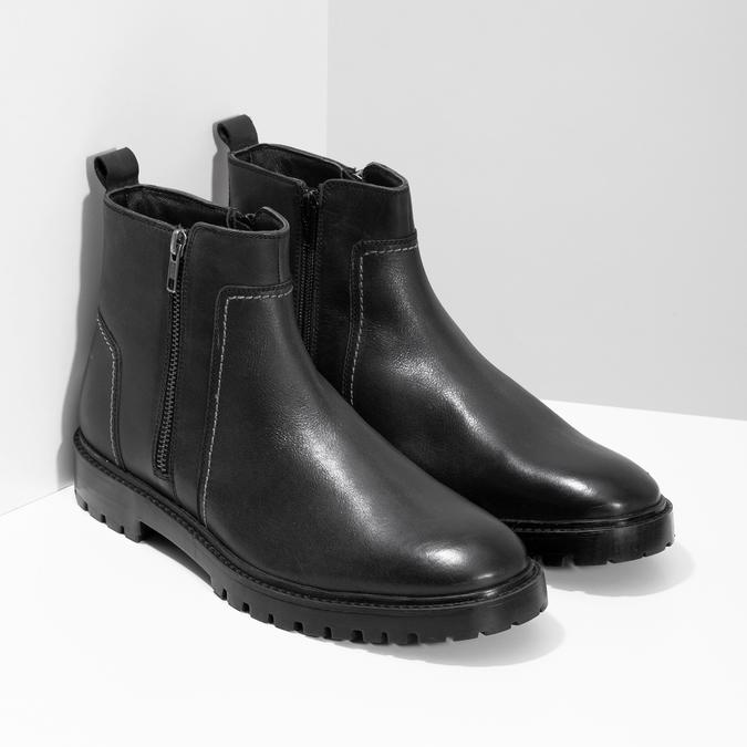 Zimní pánská kotníčková obuv černá bata, černá, 896-6724 - 26