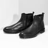 Zimní pánská kotníčková obuv černá bata, černá, 896-6724 - 16