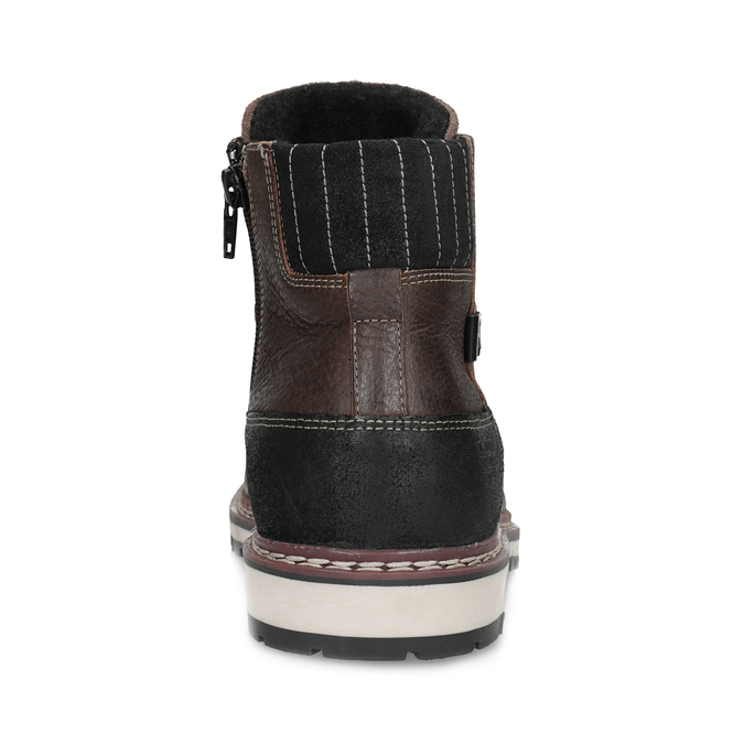 Kotníčková kožená pánská obuv bata, hnědá, 896-4666 - 15