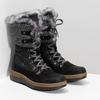 Dámská černá zimní obuv s kožíškem weinbrenner, černá, 596-6755 - 26