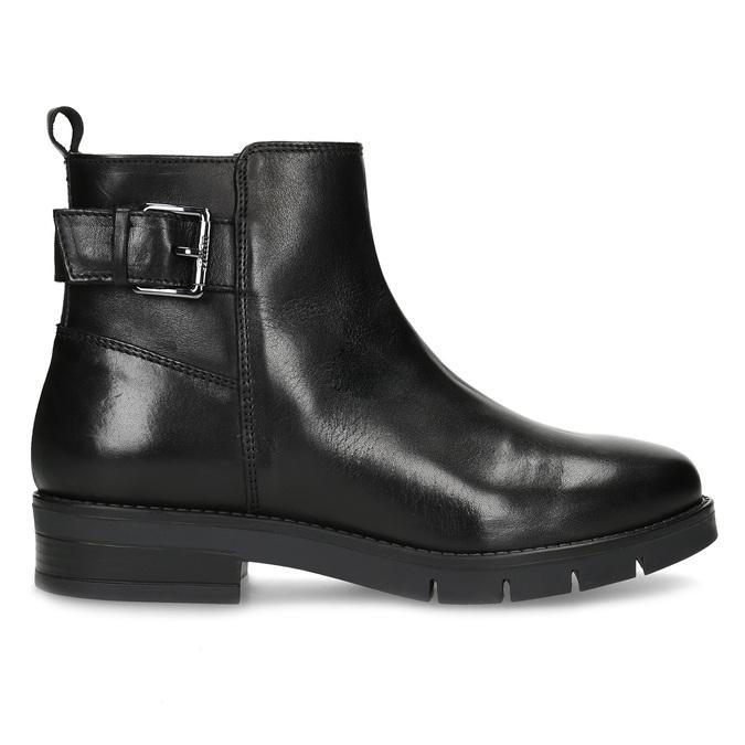 Kožená dámská kotníčková obuv černá flexible, černá, 594-6158 - 19