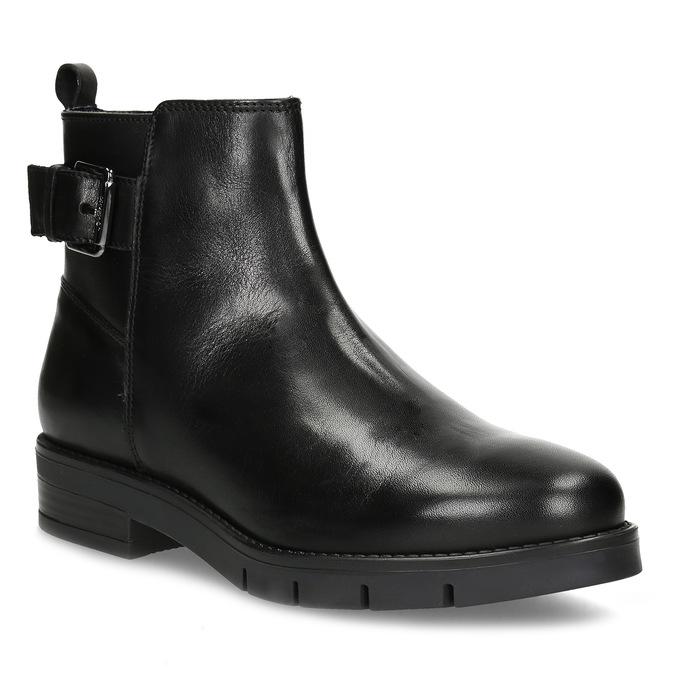 Kožená dámská kotníčková obuv černá flexible, černá, 594-6158 - 13