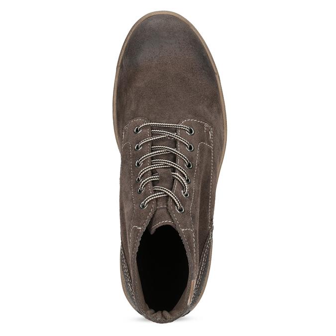 Pánská kožená kotníčková obuv weinbrenner, hnědá, 896-4108 - 17