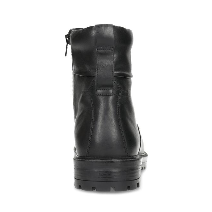 Zimní kožená kotníková obuv černá bata, černá, 896-6731 - 15