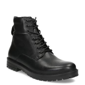 Zimní kožená kotníková obuv černá bata, černá, 896-6731 - 13