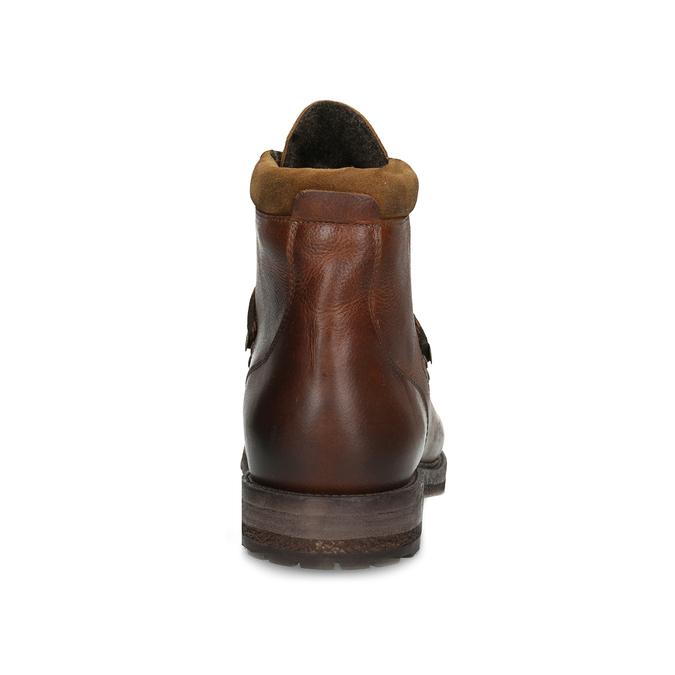 Kožená pánská kotníčková zimní obuv bata, hnědá, 896-3730 - 15